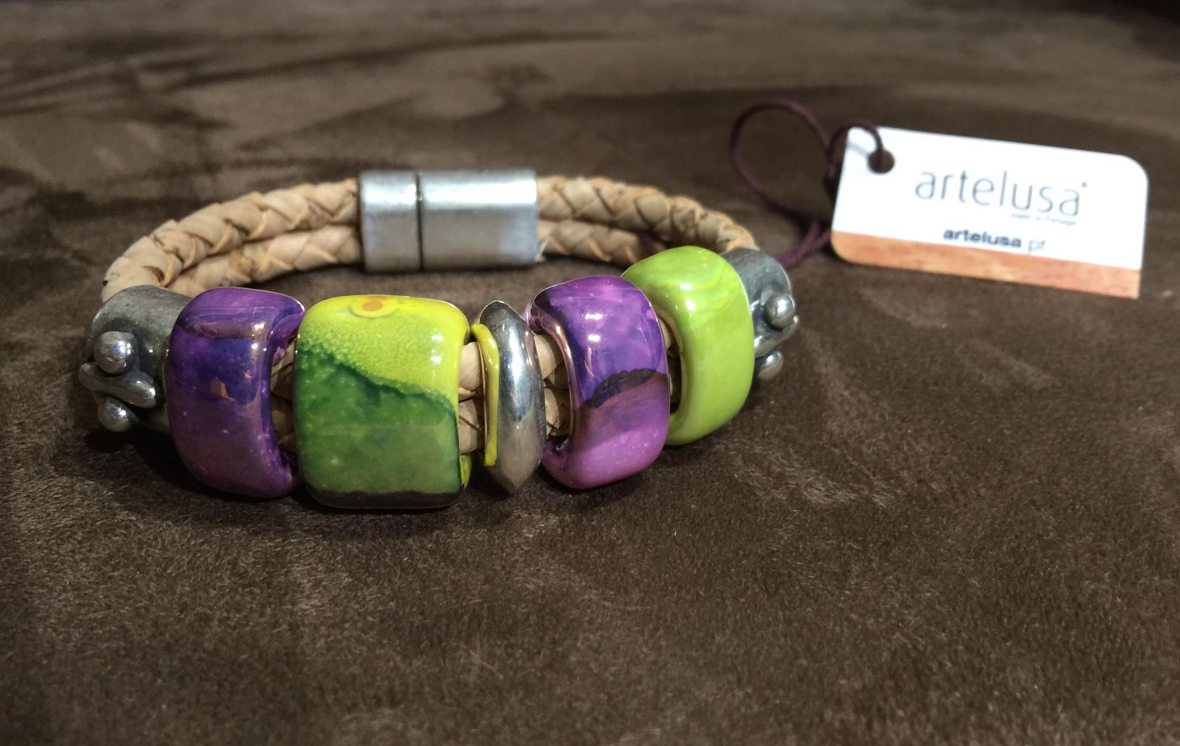 Bracelet Liége et céramique