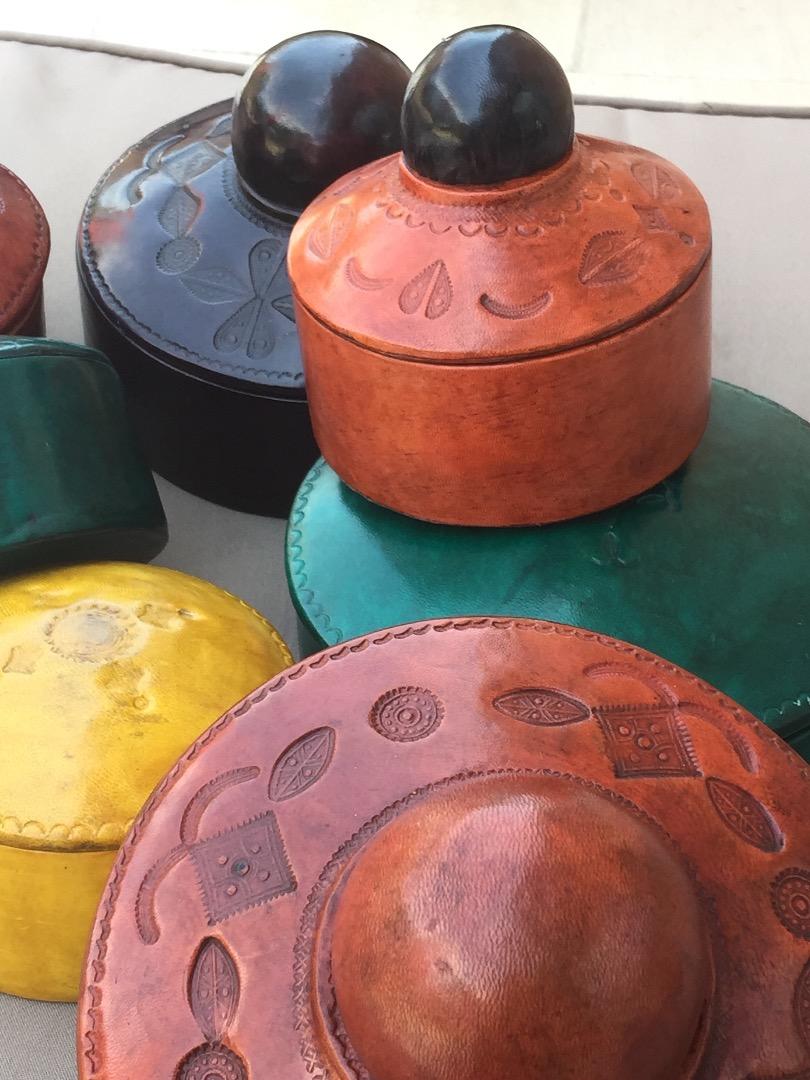 boites en cuir Touareg